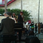 Ernie Andrews performs with his band at LACMA on May 23, 2102