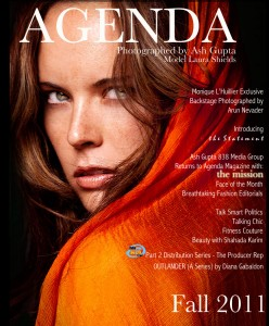 Agenda Magazine Fall 2011 Cover Photographed by Ash Gupta 838 Media Group