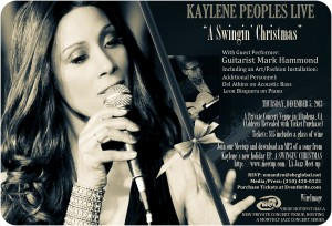 "Kaylene Peoples ""A Swingin' Christmas with Guitarist Mark Hammond Dec 5 AT 7:30PM"